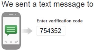 SMS Verification Code Received
